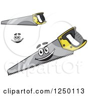 Clipart Of Saws Royalty Free Vector Illustration