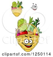 Clipart Of Baskets Full Of Produce Royalty Free Vector Illustration by Vector Tradition SM