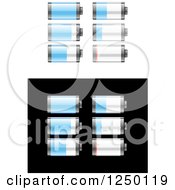 Clipart Of Batteries Royalty Free Vector Illustration