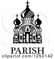 Clipart Of A Parish Church With Text Royalty Free Vector Illustration