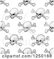 Clipart Of A Seamless Background Pattern Of Skulls And Crossbones Royalty Free Vector Illustration