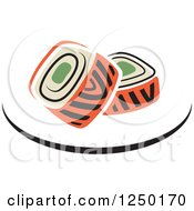 Clipart Of Sushi Royalty Free Vector Illustration
