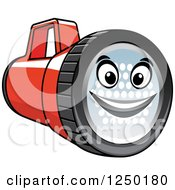 Clipart Of A Flashlight Character Royalty Free Vector Illustration