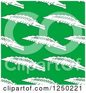 Clipart Of A Seamless Background Pattern Of Crocodiles On Green Royalty Free Vector Illustration by Vector Tradition SM