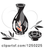 Clipart Of Oil For Asian Cuisine Royalty Free Vector Illustration by Vector Tradition SM