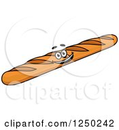 Clipart Of A Baguette Bread Royalty Free Vector Illustration