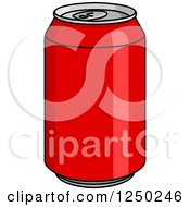 Clipart Of A Cola Can Royalty Free Vector Illustration
