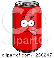 Clipart Of A Cola Can Character Royalty Free Vector Illustration