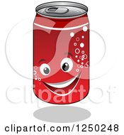 Clipart Of A Soda Cola Can Character Royalty Free Vector Illustration