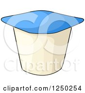 Clipart Of A Yogurt Cup Royalty Free Vector Illustration by Vector Tradition SM