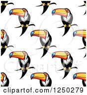 Clipart Of A Seamless Background Pattern Of Toucans Royalty Free Vector Illustration by Vector Tradition SM