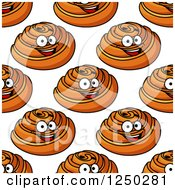 Clipart Of A Seamless Background Of Danish Pastries Royalty Free Vector Illustration