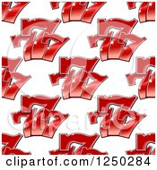 Clipart Of A Seamless Casino Lucky Triple Seven Background Pattern Royalty Free Vector Illustration
