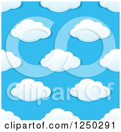 Clipart Of A Seamless Background Pattern Of Clouds Royalty Free Vector Illustration by Vector Tradition SM