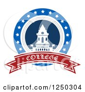 Clipart Of A College Design With Text Royalty Free Vector Illustration by Vector Tradition SM