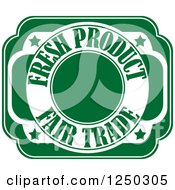 Clipart Of A Fresh Product Fair Trade Design Royalty Free Vector Illustration