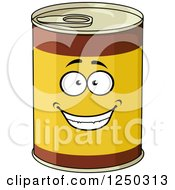 Clipart Of A Food Can Character Royalty Free Vector Illustration