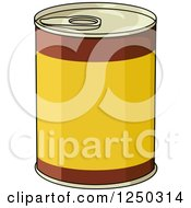 Clipart Of A Food Can Royalty Free Vector Illustration