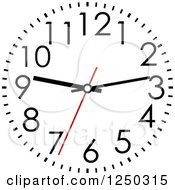 Clipart Of A Wall Clock Royalty Free Vector Illustration