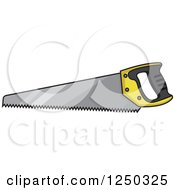 Clipart Of A Saw Royalty Free Vector Illustration