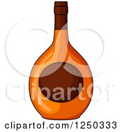Clipart Of An Alcohol Bottle Royalty Free Vector Illustration