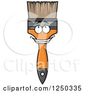 Clipart Of A Paintbrush Character Royalty Free Vector Illustration by Vector Tradition SM