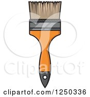 Clipart Of A Paintbrush Royalty Free Vector Illustration by Vector Tradition SM