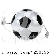 Clipart Of A 3d Soccer Ball Character Giving A Thumb Up Royalty Free Illustration