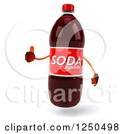Clipart Of A 3d Soda Bottle Mascot Holding A Thumb Up Royalty Free Illustration
