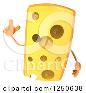 Clipart Of A 3d Cheese Wedge Character With An Idea Royalty Free Illustration