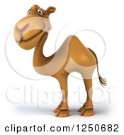 Clipart Of A 3d Camel Facing Left Royalty Free Illustration