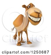 Clipart Of A 3d Camel Walking 2 Royalty Free Illustration
