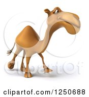 Clipart Of A 3d Camel Walking 3 Royalty Free Illustration