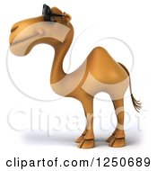 Clipart Of A 3d Camel Wearing Sunglasses Royalty Free Illustration