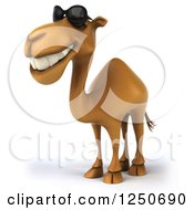 Clipart Of A 3d Camel Wearing Sunglasses 2 Royalty Free Illustration