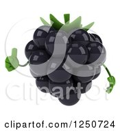 Clipart Of A 3d Blackberry Character Holding A Thumb Up 2 Royalty Free Illustration by Julos