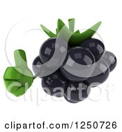 Clipart Of A 3d Blackberry Character Holding A Thumb Up Royalty Free Illustration