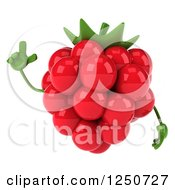 Clipart Of A 3d Raspberry Character With An Idea Royalty Free Illustration by Julos