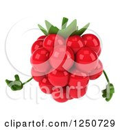 Clipart Of A 3d Raspberry Character Presenting Royalty Free Illustration by Julos