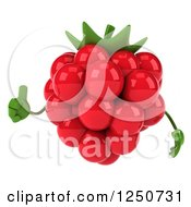 Clipart Of A 3d Raspberry Character Holding A Thumb Up 2 Royalty Free Illustration by Julos
