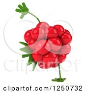 Clipart Of A 3d Raspberry Character Cartwheeling Royalty Free Illustration by Julos