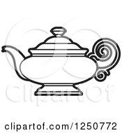 Poster, Art Print Of Black And White Tea Pot