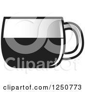 Poster, Art Print Of Grayscale Glass Tea Cup