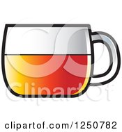 Clipart Of A Glass Tea Cup Royalty Free Vector Illustration by Lal Perera