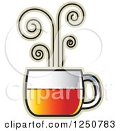 Clipart Of A Hot Glass Tea Cup Royalty Free Vector Illustration by Lal Perera