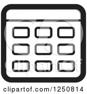 Clipart Of A Grayscale Calculator Royalty Free Vector Illustration