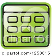 Clipart Of A Green Calculator Royalty Free Vector Illustration
