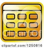 Clipart Of A Golden Calculator Royalty Free Vector Illustration