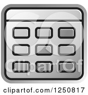 Clipart Of A Silver Calculator Royalty Free Vector Illustration