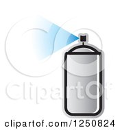 Clipart Of A Silver Can Of Spray Paint Royalty Free Vector Illustration by Lal Perera